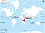 Carte de localisation du République démocratique du Congo sur la carte mondiale