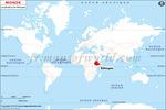 Carte de localisation du Ethiopie sur la carte mondiale