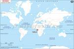 Carte de localisation du Gabon sur la carte mondiale