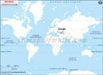 Carte de localisation du Géorgie sur la carte mondiale