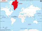 Carte de localisation du Groenland sur la carte mondiale