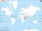 Carte de localisation du Mauritanie sur la carte mondiale