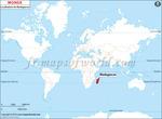 Carte de localisation du Madagascar sur la carte mondiale