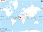 Carte de localisation du Mali sur la carte mondiale