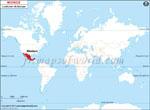 Carte de localisation du Mexique sur la carte mondiale