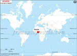 Carte de localisation du Nigeria sur la carte mondiale