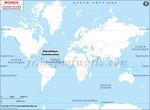 Carte de localisation du République dominicaine sur la carte mondiale