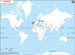 Carte de localisation du Slovénie sur la carte mondiale