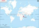 Carte de localisation du Somalie sur la carte mondiale