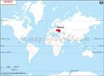 Carte de localisation du Ukraine sur la carte mondiale
