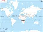 Carte de localisation du Zimbabwe sur la carte mondiale