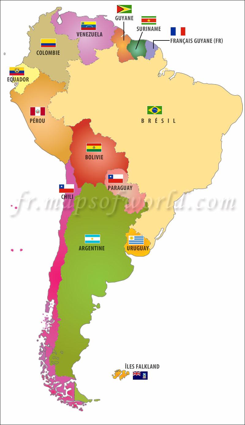 Top des pays d'Amérique du Sud LD35