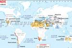 Monde Désertique Carte