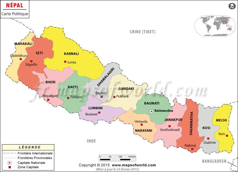 Népal Carte