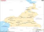 Cameroun Villes Carte