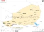 Niger Villes Carte