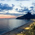 Vue aérienne de la plage d'Ipanema à Rio de Janeiro, Brésil